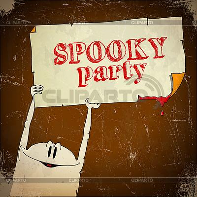 Wieku Karta Halloween z duchem | Klipart wektorowy |ID 3941937