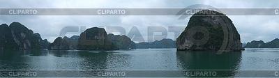 Inseln in der Halong Bay, Panorama | Foto mit hoher Auflösung |ID 3783507