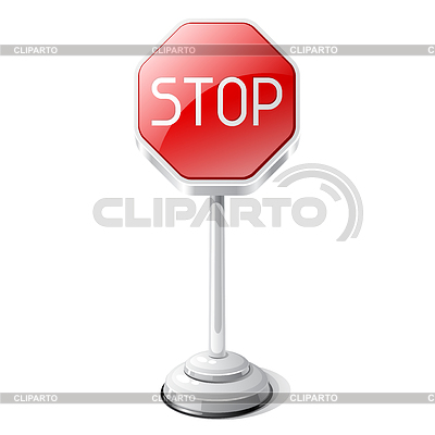 Stoppen Sie Verkehrszeichen | Stock Vektorgrafik |ID 3747465