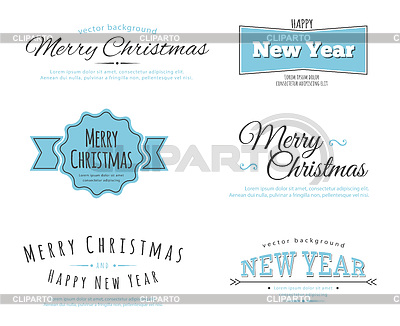 Frohe Weihnachten Typ | Stock Vektorgrafik |ID 3984238