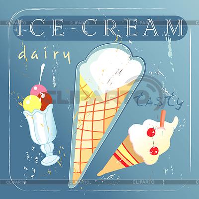 Köstliche Eiscreme mit unterschiedlichen | Illustration mit hoher Auflösung |ID 3790547