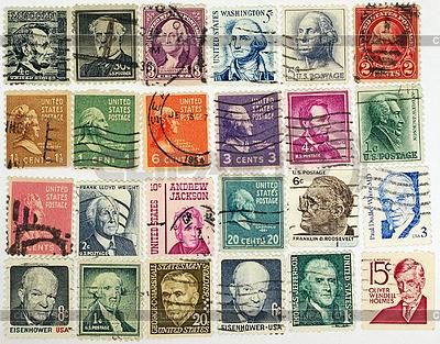 Znaczki pocztowe z prezydenta USA i polityczna | Foto stockowe wysokiej rozdzielczości |ID 3878009