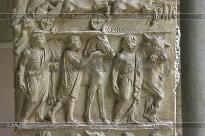Antike römische Relief des Museums der Vatikan. Rom | Foto mit hoher Auflösung |ID 3905089