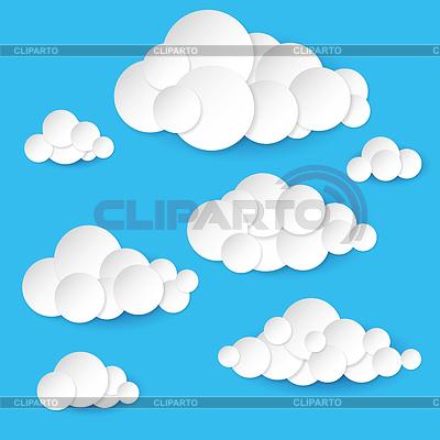 Облако из бумаги шаблон