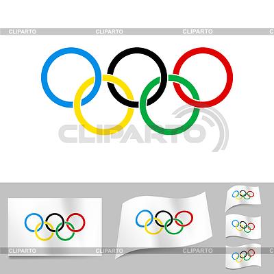 Olympische ringe illustration für kreatives gestalten dvarg