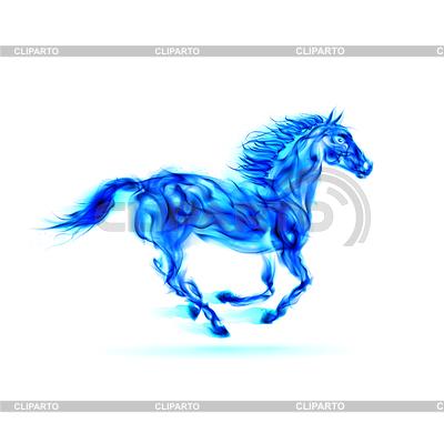 Laufen blue fire Pferd | Stock Vektorgrafik |ID 4036760