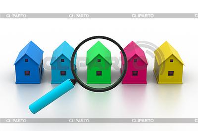 Szukaj nowy dom | Stockowa ilustracja wysokiej rozdzielczości |ID 4010799