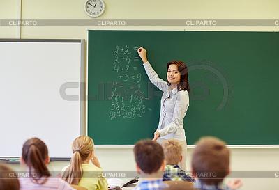 Векторная иллюстрация учительница с
