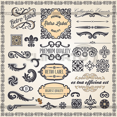 Kalligraphische Design-Elemente und Dekoration Seite | Stock Vektorgrafik |ID 3821206