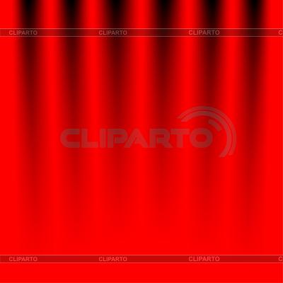 Fragment czerwonej kurtyny scenicznej | Klipart wektorowy |ID 3727859