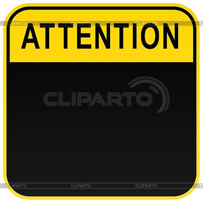 Schwarz Warnung Aufmerksamkeit Zeichen blank | Stock Vektorgrafik |ID 3727939