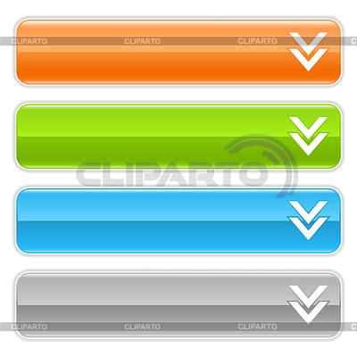 Langes Rechteck Web-Schaltfläche mit Download | Stock Vektorgrafik |ID 3728428