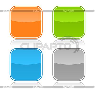 Farbe glasig leere Web-Buttons | Stock Vektorgrafik |ID 3728558