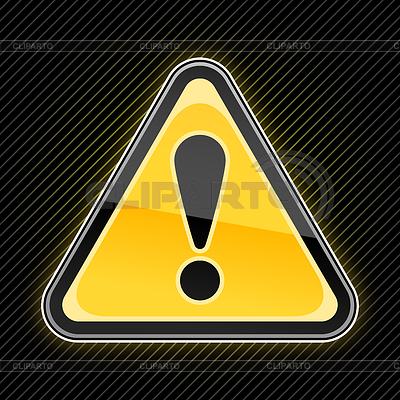 наклейка желтый квадрат с восклицательным знаком