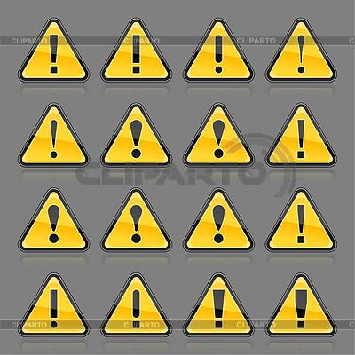 желтый треугольник с восклицательным знаком возле