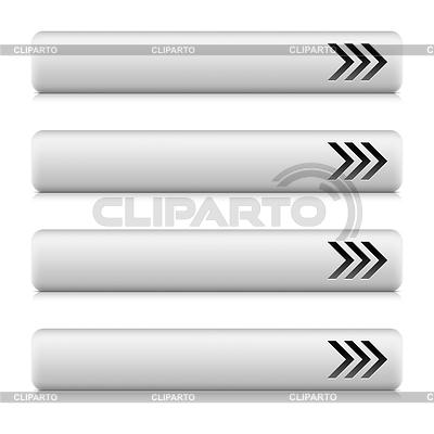 Długi szary przycisk z napisem strzałka pobierania | Klipart wektorowy |ID 3731558