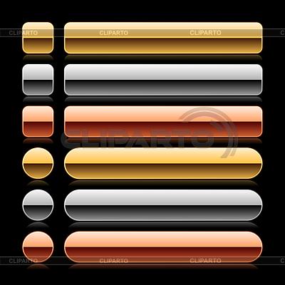 Glossy farbigen leere Web 2.0 lange Tasten | Stock Vektorgrafik |ID 3731836