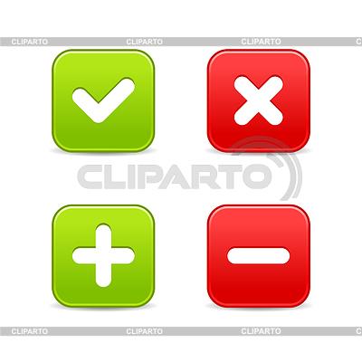 Web 2.0 Schaltflächen der Validierung Ikonen | Stock Vektorgrafik |ID 3732729