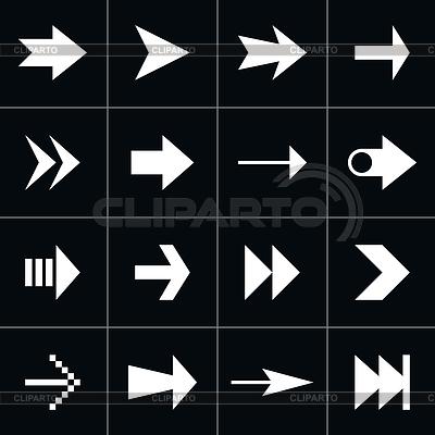 16 Pfeil-Zeichen Piktogramm Set | Stock Vektorgrafik |ID 3743149