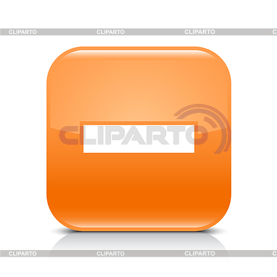 Orange glossy web button with minus sign | Klipart wektorowy |ID 3745158