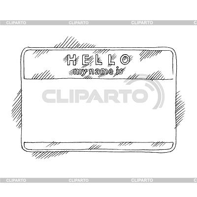 Namensschild-Aufkleber | Stock Vektorgrafik |ID 3745478