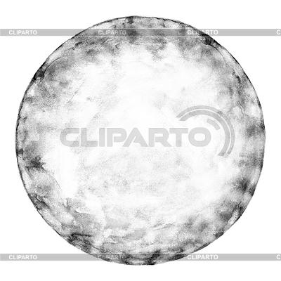 Akwarela koło puste w skali szarości | Stockowa ilustracja wysokiej rozdzielczości |ID 3745569