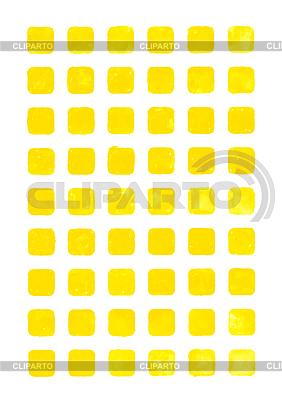 Gelbe Aquarell leere gerundet quadratischen Web-Schaltflächen | Illustration mit hoher Auflösung |ID 3745659