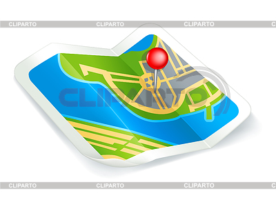 Karte, Symbol | Stock Vektorgrafik |ID 3771677