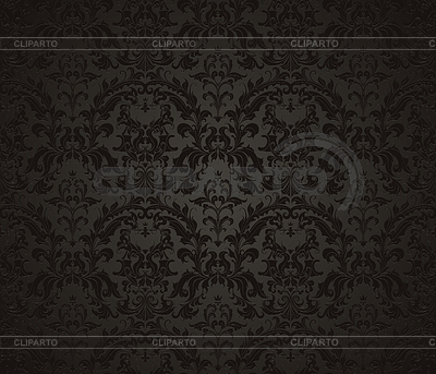 Nahtlose Tapetenmuster, schwarz | Stock Vektorgrafik |ID 3772107