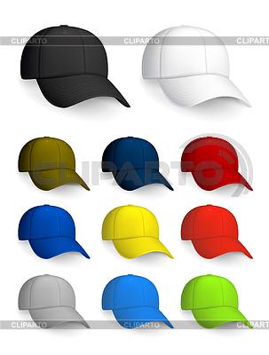 Satz von Baseball-Kappen, isoliert auf weißem | Stock Vektorgrafik |ID 3772639