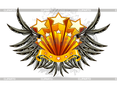 Black Wings Emblem | Stock Vektorgrafik |ID 3772671