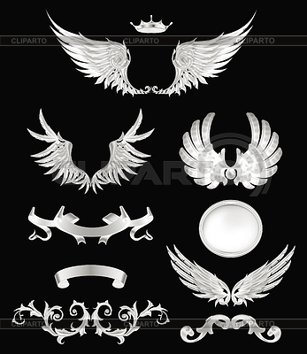 Design elements with wings, high quality 10eps | Klipart wektorowy |ID 3774898