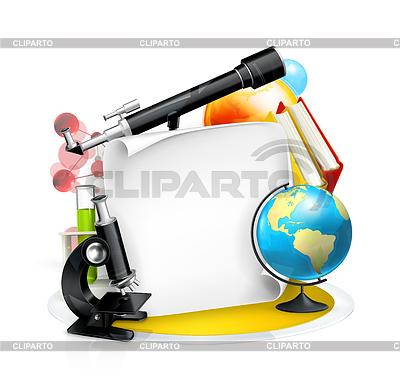 Edukacja i Nauka ramki | Klipart wektorowy |ID 3776880