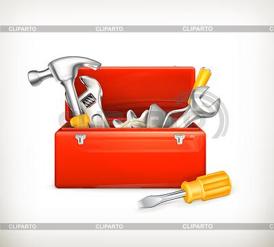 Herramienta fotos stock y clipart vectorial eps cliparto - Caja herramientas vacia ...