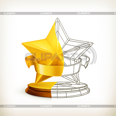 Auszeichnung halbe Sterne | Stock Vektorgrafik |ID 3777845