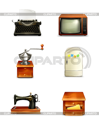 Retro-Icon-Set | Stock Vektorgrafik |ID 3778339