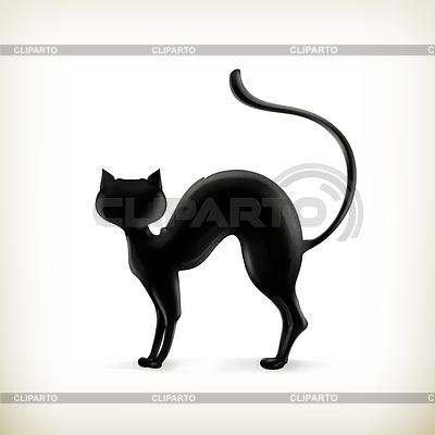 running cat silhouette  Cat silhouette, vector - ©