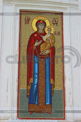 Prawosławna ikona mozaiki Panny Marii | Foto stockowe wysokiej rozdzielczości |ID 3786145