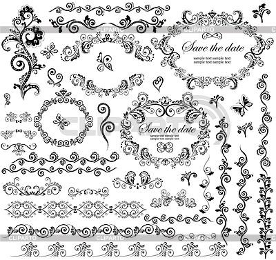 Dekorative Hochzeits-Rahmen | Stock Vektorgrafik |ID 3794629