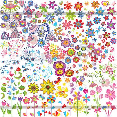 Kwiaty ustawione | Klipart wektorowy |ID 3798198