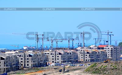 Budowa hoteli w wiosce olimpijskiej na Main | Foto stockowe wysokiej rozdzielczości |ID 3814396