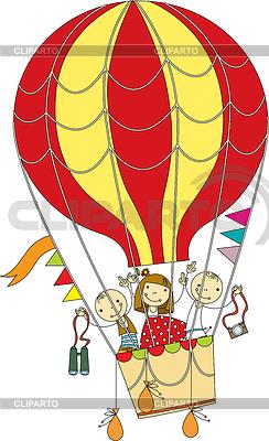 Полет на воздушном шаре | Векторный клипарт |ID 3838069
