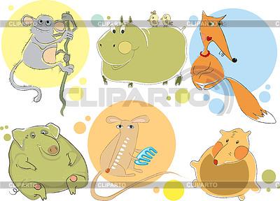 Animal characters | 벡터 클립 아트 |ID 3838983