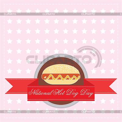 Narodowy Dzień Hot Dog | Klipart wektorowy |ID 3864388