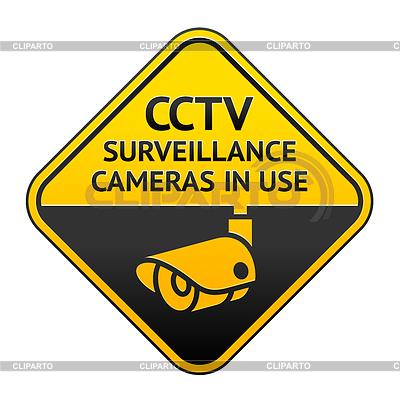 CCTV-Piktogramm, Videoüberwachung Symbol | Stock Vektorgrafik |ID 3821799