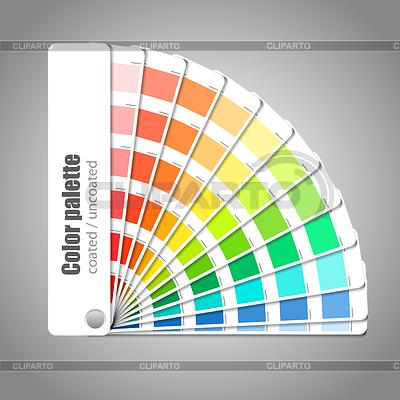 Farbpalette Leitfaden auf grauem Hintergrund | Stock Vektorgrafik |ID 3838378