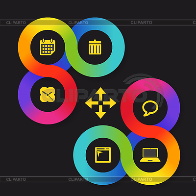 Цветовой круг веб интерфейс с