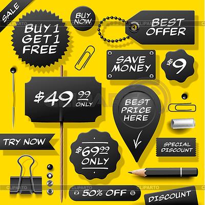판매 레이블, 배지 및 소모품의 컬렉션 | 높은 해상도 그림 |ID 3896637