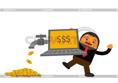 Geschäftsmann in Aktivität | Stock Vektorgrafik |ID 3905459