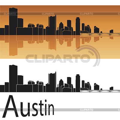 Skyline von Austin | Stock Vektorgrafik |ID 3856531